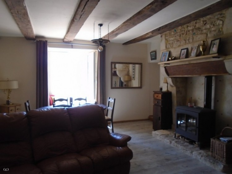 Property for Sale in Attractive 3 Bedroomed Character Stone Property, Charente, Near Ruffec, Nouvelle-Aquitaine, France