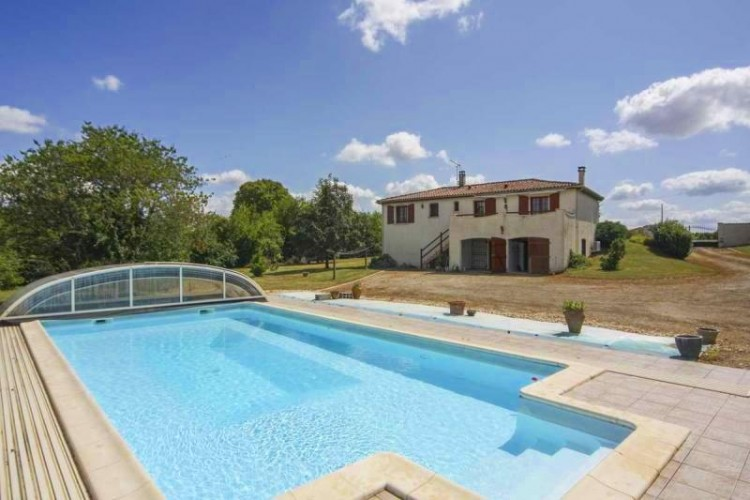 Property for Sale in Spacious contemporary house with large garden, swimming pool and fine views, Charente, Nouvelle-Aquitaine, France