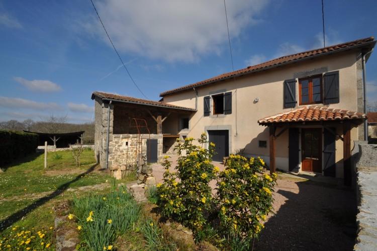 Property for Sale in 4 bedroomed village house and gite, Dordogne, Near Le Bourdeix, Dordogne, Nouvelle-Aquitaine, France