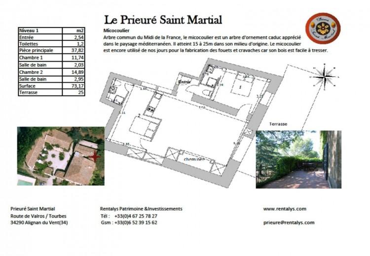 Property for Sale in *2 bedroomed apartment renovat, Hérault, Alignan Du Vent, Occitanie, France