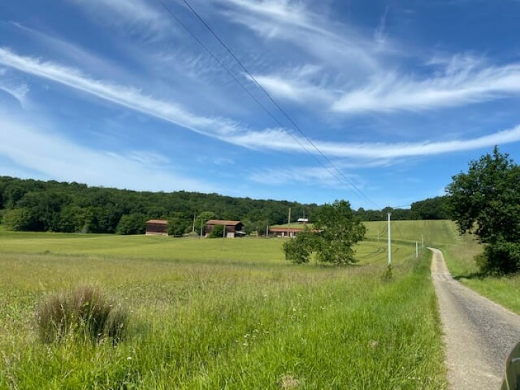 Property for Sale in A magnificent situation for this French farmhouse with outbuildings, a lake and 8 hectares., Tombebouef, Nouvelle-Aquitaine, France