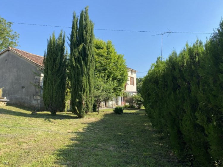 Property for Sale in Pretty Stone House Near Ruffec, Charente, Ruffec, Nouvelle-Aquitaine, France