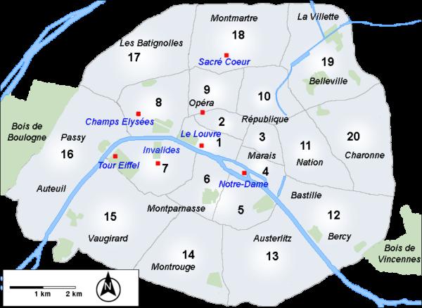 Paris Arrondissements - CC0