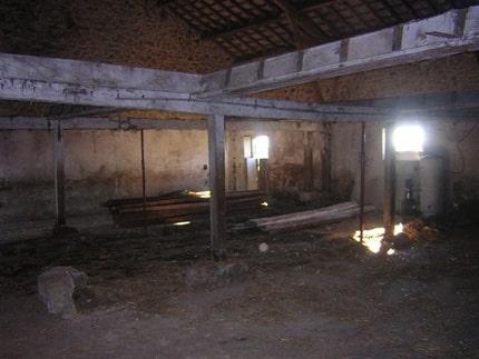 Inside the renovated barn