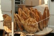 Fresh bread at Bourganeuf market