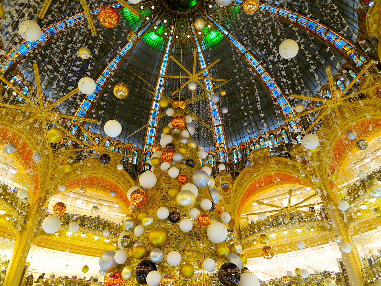 Christmas 2015 Galeries Lafayette Paris Photo by Sylvia Davis