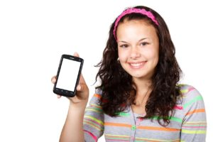 texting girl with phone public domain pictures via pixabay