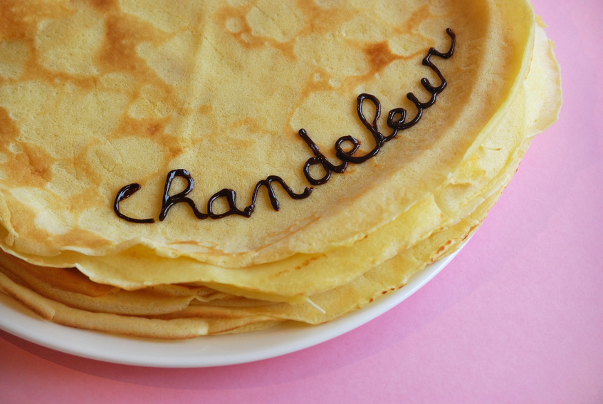 Stack of pancakes for la chandeleur