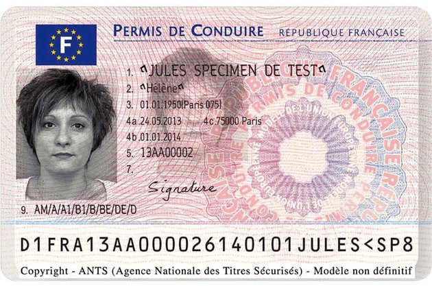 "The French drivers licence in ""credit card"" format in effect since September 16, 2013"
