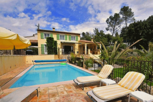 Villa du Soleil, Vence. Sleeping up to 10.  Beautifully presented property.  Heated Pool. 1km from Vence centre.