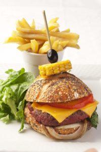 Stein-Pidou burger at La Voile Blanche restaurant, Pompidou Metz