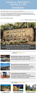 French Property, Home & Life Newsletter
