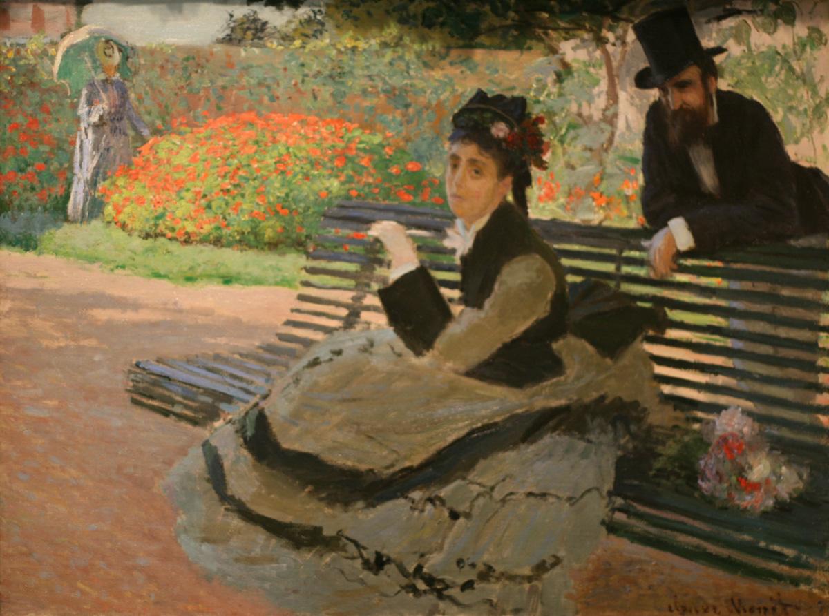 Claude Monet, Camille Monet on a Garden Bench, 1873 ©WLA Met Museum