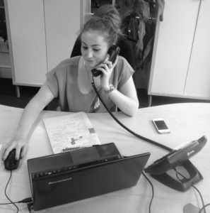 Paola at the French Property desk