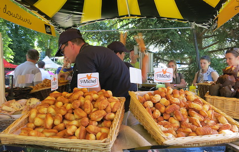 Fresh Madeleine's at the markets at the Tour de France