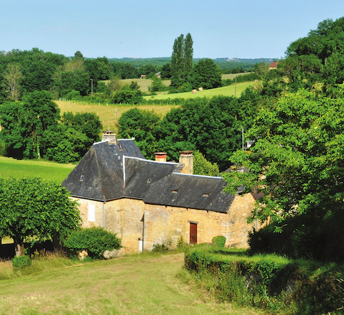 French property in a rural location