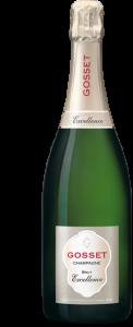bottle of Gosset champagne