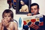 Mireille Darc and Jean Yanne in Jean-Luc Godard's
