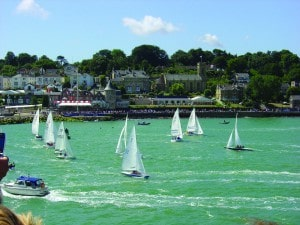 Cowes, Isle of Wight, is twinned with Deauville in Normandy