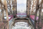 see-through plaftorm around the central opening of the 1st floor of the Tour Eiffel