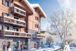 This computer-generated image shows how Les Chalets de Laÿssia in Samoëns will look when completed