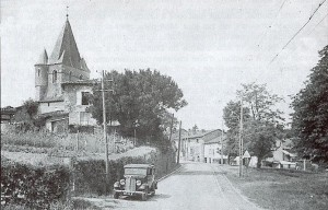The tranquil village of Oradour-sur-Glane, pictured before the massacre