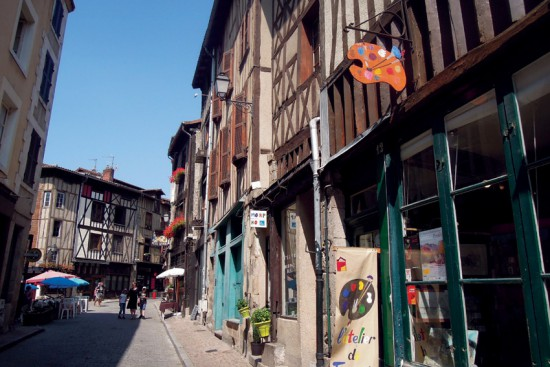 The butchers' street in Limoges