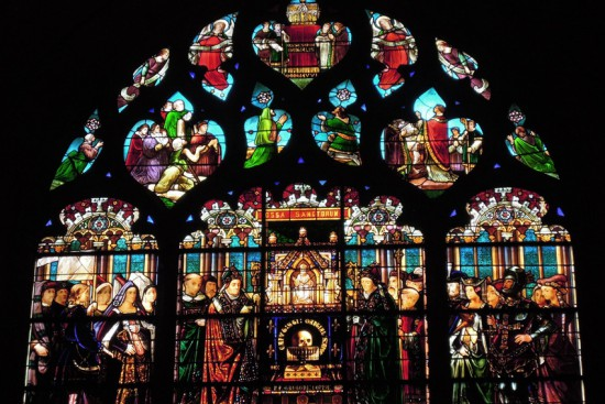 Stained glass in Limoges cathedral