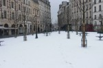 Place Dauphine in the Snow Winter 2010