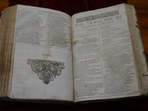 A First Folio edition of William Shakespeare plays