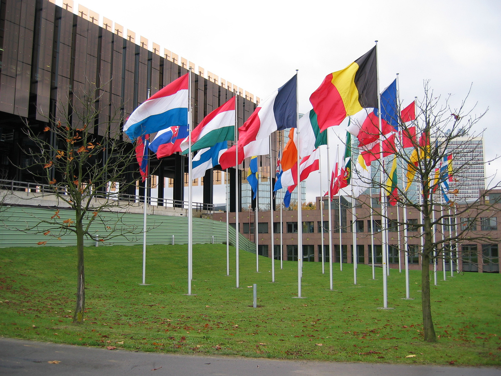 Flags at the European Court of Justice