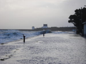 The sea during winter in Brittany