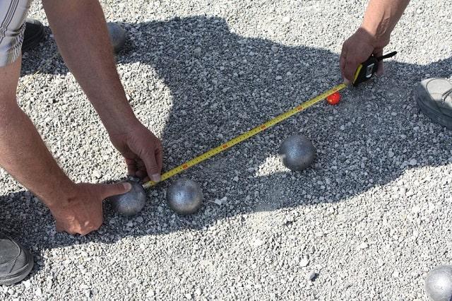 Measuring two distances between bowl balls