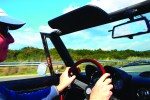 Behind the wheel of the Alfa Romeo Spider