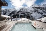 The stunning view from the hot tub at Chalet Powder Ridge at Tignes Les Brevieres
