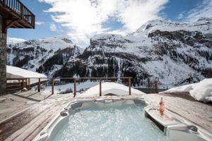 alps chalet hot tub
