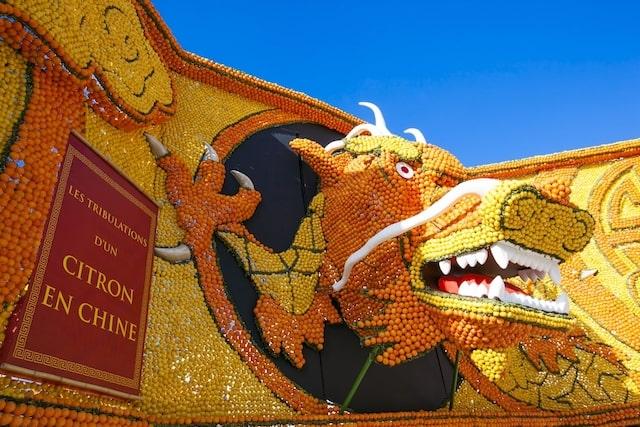 Dragon at the Menton Festival