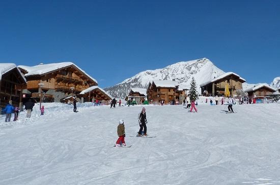 Nursery slope Sainte Foy ski resort