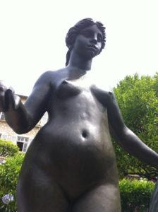 Renoir's home nude sculpture of Aline