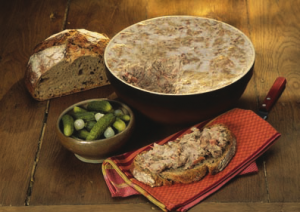 Coarse pork pate from Tours