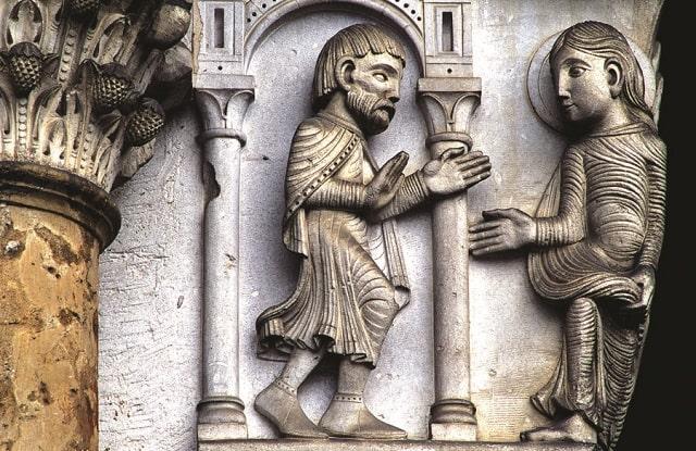 Carved Stonework in Vézélay Basilia