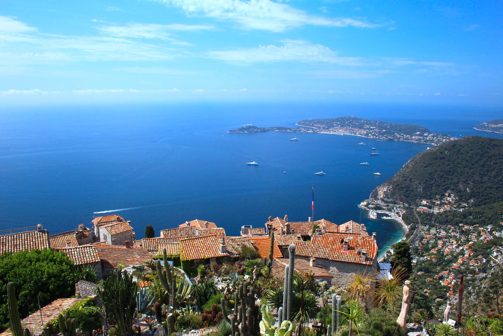 Breath-taking view of one of France's top tourist destincation, Cote d'Azur