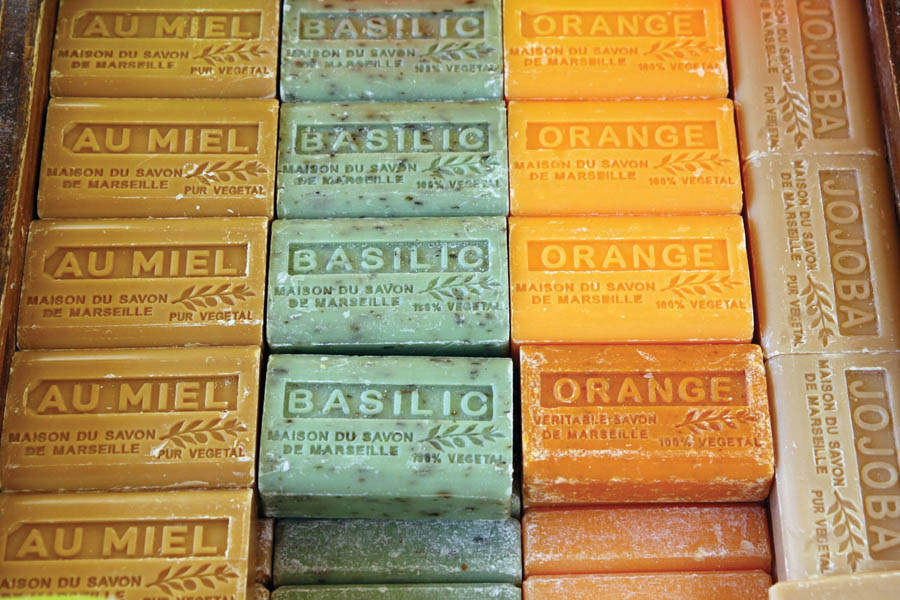 Stock up on Marseille soaps at market