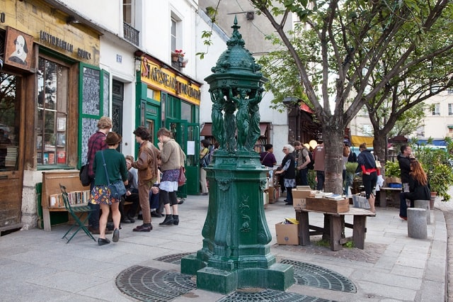 The Latin Quarter's famous Shakespeare and Company bookstore