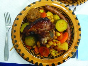 Delicious couscous in one of Marseille's many excellent Arab restaurants