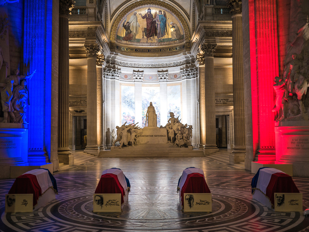 Resistance Heroes inside the Pantheon in Paris