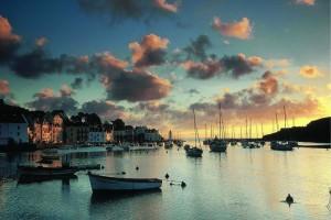 Sauzon on Belle-Île looks stunning at sundown