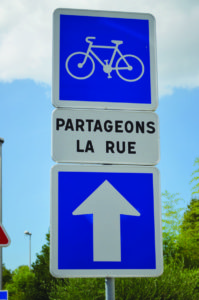 Sharing the road is a key ethos in France