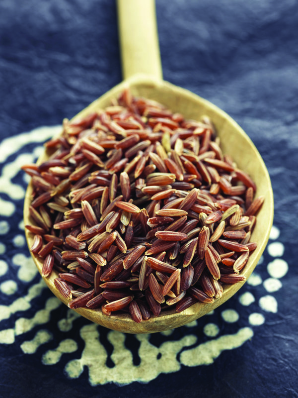 The region's red and black rice
