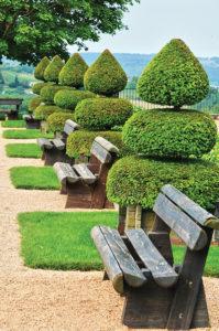 France, picturesque Jardins du Manoir d Eyrignac in Dordogne